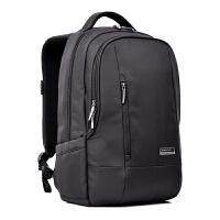 商务双肩电脑包14英寸15.6英寸防震防水笔记本电脑包 黑色 15寸