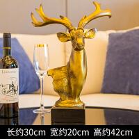 鹿头摆件欧式家居家装饰品客厅新婚结婚礼物酒柜创意电视柜