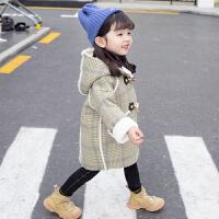 女宝宝外套秋冬装潮洋气风衣儿童毛呢大衣
