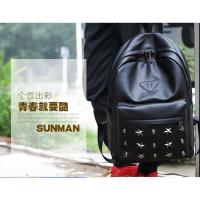 香港潮牌铆钉双肩包男包时尚个性韩版学生潮流书包休闲旅行包背包