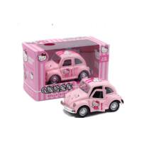 卡通凯蒂猫合金回力车HelloKitty儿童玩具车模型汽车装饰车载摆件