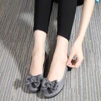 春秋新款老北京布鞋时尚平底豆豆鞋舒适透气软底黑色工作鞋女鞋子