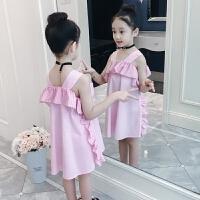 童装女童连衣裙夏装2018新款儿童吊带裙夏季小女孩公主裙洋气裙子
