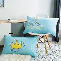 棉枕套一对装枕头套单人儿童学生棉枕芯套子48*74cmJ 48cmX74cm
