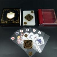塑料扑克牌 创意透明水晶扑克磨砂德州扑克牌 防水PVC扑克