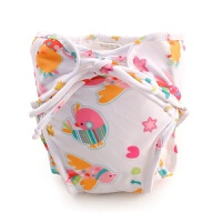 婴儿泳裤女宝宝防水防漏游泳衣生儿0-2岁男女童防尿可爱6个月 乳白色 FS-27喜鹊