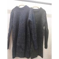 N5毛衣秋冬中长款半高领混色打底衫韩版套头长袖针织衫新女装0.78