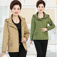 中老年女装春秋外套夹克40-50岁妈妈装中年短款春装风衣大码薄款