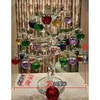 【品牌热卖】水晶苹果树客厅酒柜电视柜摆件装饰品发财树创意结婚乔迁生日礼品