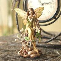 欧式田园创意家居装饰品摆件婚庆工艺品情人节礼物花仙子森林天使 森林天使-摘花(15cm*11cm)