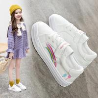 童鞋小白鞋女童鞋子2020春秋季新款儿童白色小学生百搭小女孩板鞋