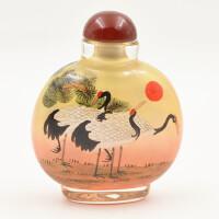民间手工艺品手绘水晶内画鼻烟壶中国礼品送老外