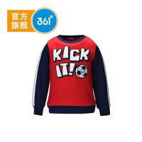 【折后�B券�A估�r:42】361° 361度正品秋季男童�L袖T恤小孩足球�\�由弦轮写笸��l衣K56441061