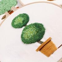 DIY材料包小清新植物小幅立体绣新手初学者手工制作绣花