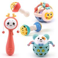 婴儿玩具摇铃新生儿0-3-6-12个月益智可咬女宝宝软胶手摇铃男孩子h2r
