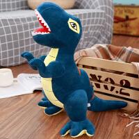 恐龙毛绒玩具公仔超大号霸王龙布偶娃娃睡觉抱枕儿童生日礼物男孩 深蓝色 霸王龙