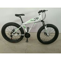 凹凸(AOTU) 山地车新款自行车鲨鱼雪地车 超大超宽加粗轮胎26寸铝合金 26英寸x17英寸