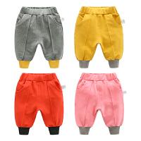 婴儿裤子春装女童打底裤1岁3宝宝大pp裤男童休闲裤
