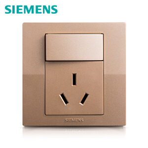 西门子开关开关面板西门子悦动系列香槟金色一开16A空调电源插座