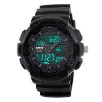 男士手表防水个性电子表户外运动大表盘双显1270男学生腕表