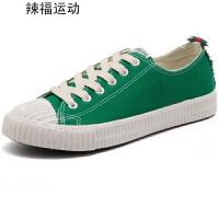 2018新款帆布鞋女学生韩版原宿ulzzang平跟黑色1992鞋子百搭平底