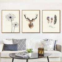 北欧风格客厅装饰三联画现代简约卧室床头美式壁画沙发背景墙挂画