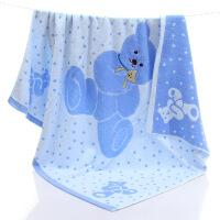 婴儿纯棉浴巾宝宝正方形全棉大盖毯抱被新生儿童毛巾被超柔软吸水