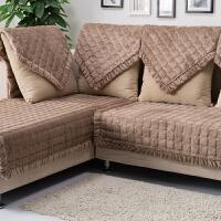 冬季欧式真皮沙发垫坐垫布艺防滑四季短毛绒沙发套沙发巾加厚