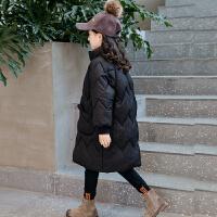 2018新款韩版儿童棉衣冬季女孩洋气棉袄外套中长款棉服