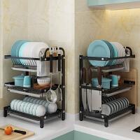 304不锈钢碗架沥水架厨房置物架晾放碗碟盘子刀具用品碗筷收纳盒