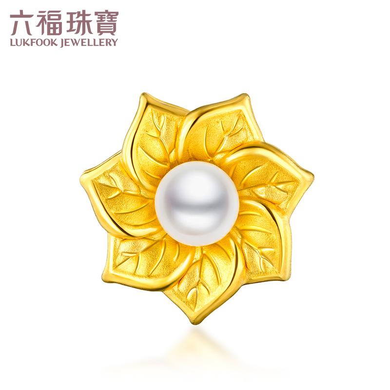六福珠宝七叶菩提黄金淡水珍珠路路通串珠女款定价L01A1TBP0032 支持礼品卡 佛的信物 寓意佛的佑护和祝福