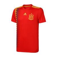 adidas阿迪达斯男子短袖T恤18世界杯西班牙国家队足球怼服CX5355