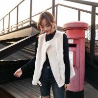 圣依雅濑兔毛马甲女短款冬季新款韩版学生皮毛一体