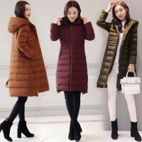 冬新款韩版外套大码立领长款棉衣时尚潮流女装