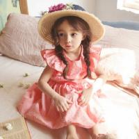 2018新款韩版女孩儿童夏季公主裙子女童装夏季大童纯棉淑女连衣裙