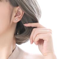 925纯银闪晶晶耳钉超仙小耳饰少女气质星星耳环礼物女