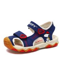 史努比童鞋男童包头凉鞋新款夏季儿童凉鞋防滑软底宝宝沙滩鞋