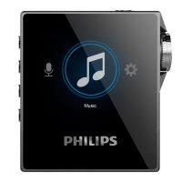 PHILIPS飞利浦SA8332 32G MP3 智能降噪 HIFI音乐播放器 录音功能 无损DSD播放器 双镜面录音蓝
