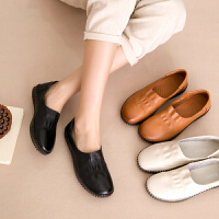 百搭白色鞋休闲懒人鞋防滑平跟孕妇妈妈鞋舒适软底单鞋女鞋春