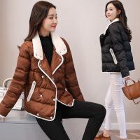 小棉袄女冬装新款韩版修身加厚羊羔毛女士面包服短款棉衣外套