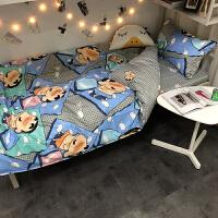 流氓蜡笔小新床单四件套3卡通儿童床上用品被套学生宿舍三件套4