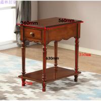 欧式简约实木沙发边几角几 花架 沙发小茶几 边柜 电话几 小茶几 胡桃色