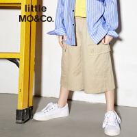 littlemoco夏季新品男童裤子大口袋松紧腰工装风宽松男童休闲裤