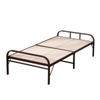 【品牌热卖】折叠钢丝床 单人折叠床陪护床办公室午睡床环保木床一米单人床钢板床钢丝床午休床 1米宽曲木床