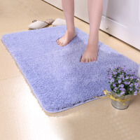 宝优妮毛绒地垫加厚进门客厅垫浴室吸水可机洗地毯卫浴脚垫门厅防尘垫40X60cm
