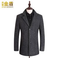 呢子大衣男中长款韩版新款冬季加厚修身妮子青年男士毛呢外套