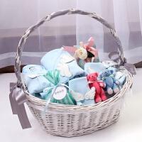 初生儿礼盒春夏婴儿用品套装0-3个月宝宝满月礼盒