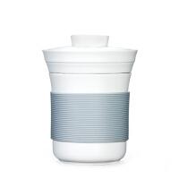 唐丰创意快客杯 个人杯水杯带盖过滤陶瓷办公杯茶杯