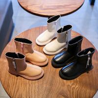 女童靴子新款冬季短靴秋冬鞋大童加绒二棉鞋