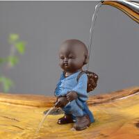 精品紫砂茶宠摆件创意茶艺茶具茶道茶盘茶玩摆设撒尿娃娃喷水可养